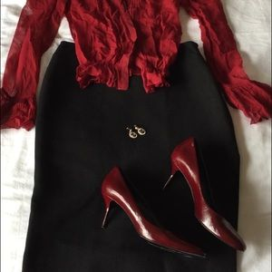 Pierre Hardy deep red size 40 (size 10)